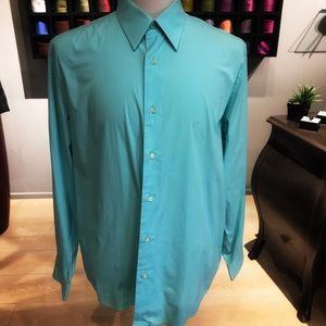 Teal Express 1MX Men's Modern Fit Dress Shirt